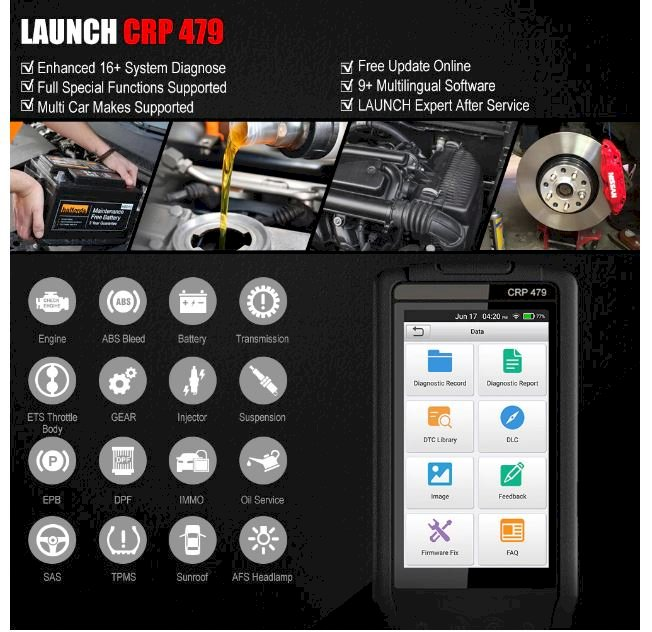 LAUNCH X431 CRP479 OBD2 Scanner